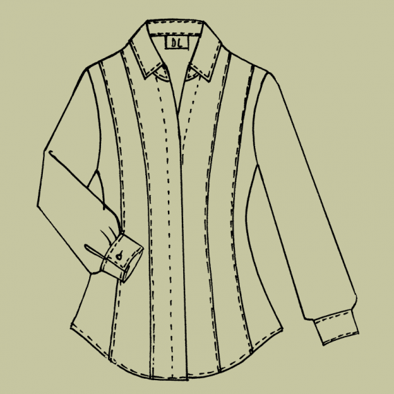 BL5L---Fitted-blouse-with-concealed-front-and-long-sleeves