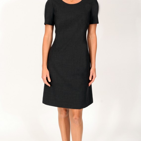 DR01---Semi-fitted-lined-dress-with-short-sleeves
