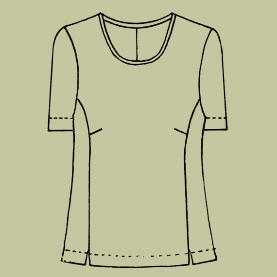 SHE1---Semi-fitted-lined-shell-top-with-short-sleeves-and-invisible-back-zip-1-close-up