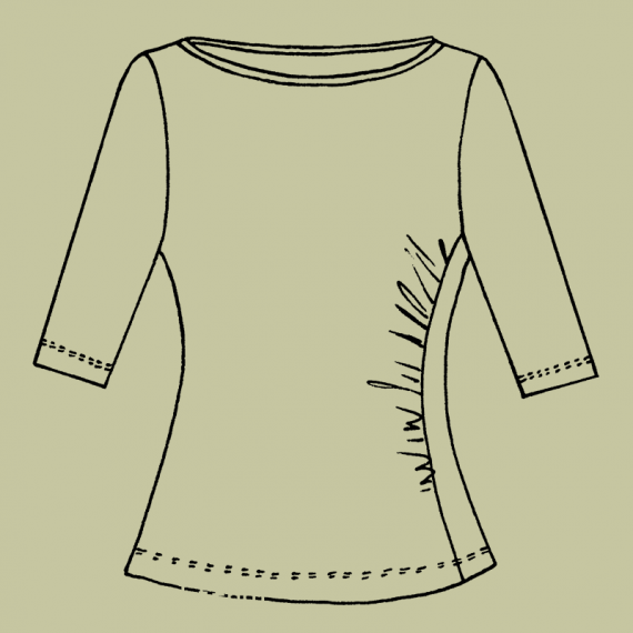 ST1Q---Fitted-stretch-top-with-three-quarter-sleeves