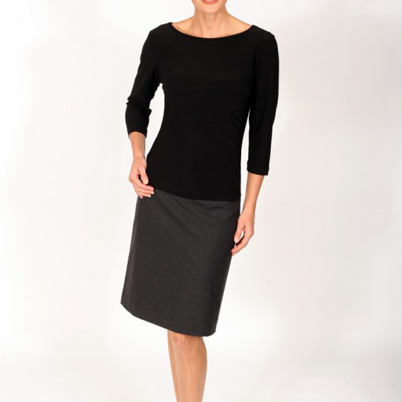 ST1Q---Fitted-stretch-top-with-three-quarter-sleeves-with-skirt
